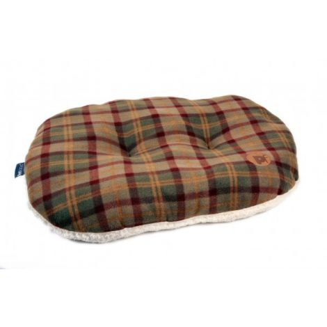Petface Country Check Oval Cushion Small