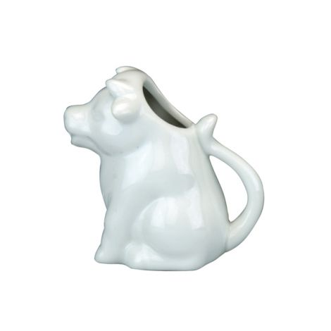 Apollo White Porcelain Cow Jug