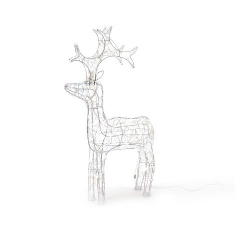 Lumineo LED Outdoor Acrylic Reindeer 90cm - Ice White