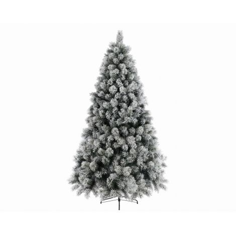 7. Everlands 8ft Snowy Vancouver Artificial Christmas Tree