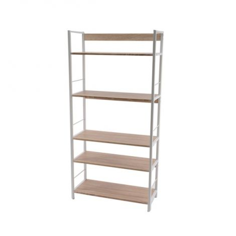 Kaemingk Wood Bookshelf With 5 Shelves