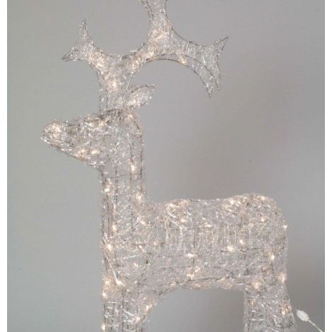 Lumineo LED Outdoor Acrylic Reindeer 90cm - Warm White