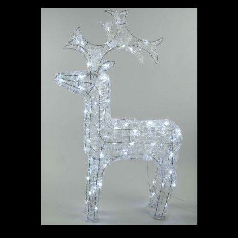 Lumineo LED Outdoor Acrylic Reindeer 120cm - Ice White