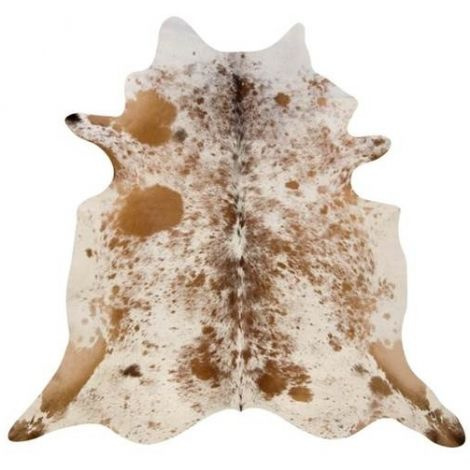 Hanlin Medium Cowhide Brown and White Speckle