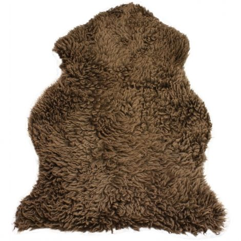 Hanlin Curly Sheepskin Brown Light Tip