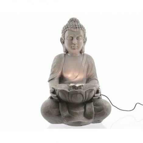 Kaemingk Buddha with Lotus Flower