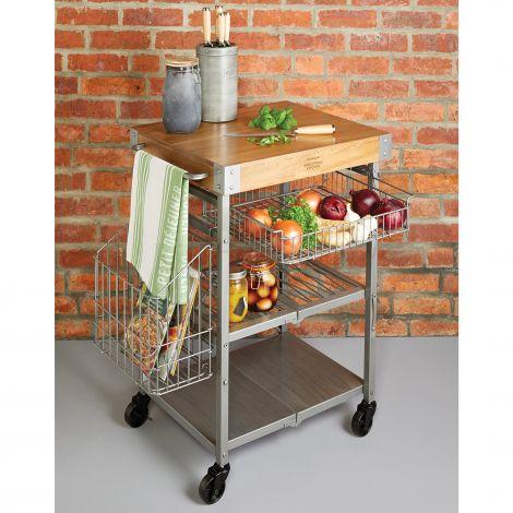 Kitchencraft Industrial Folding Kitchen Trolley