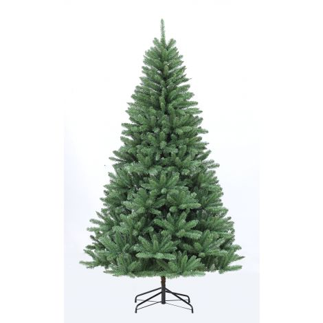 95. Puleo 8ft Evergreen Spruce Artificial Christmas Tree Blue