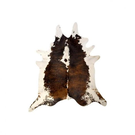 Hanlin Medium Cowhide Exotic Brown and White