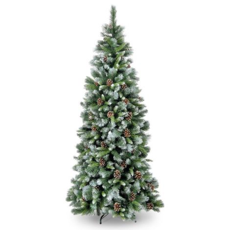 34. Snowtime 7ft Frosted Glacier Artificial Christmas Tree