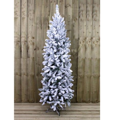 31. Kingfisher 6ft Slim Snowy Artificial Christmas Tree