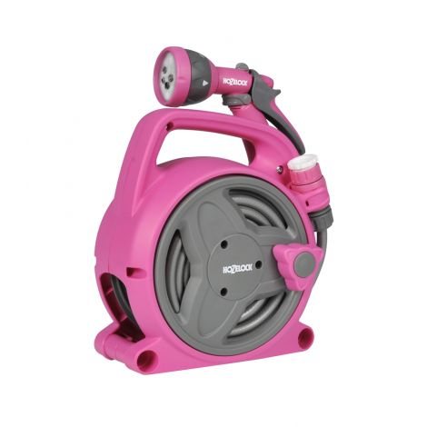 Hozelock Pink Reel Spray Gun 10m