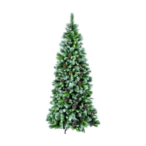 35. Snowtime 8ft Frosted Glacier Hook Artificial Christmas Tree