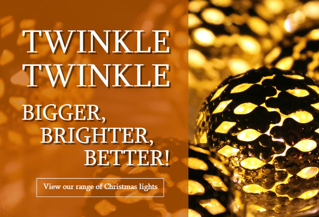 View our range of Christmas lights