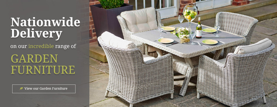 Nationwide delivery on our incredible range of garden furniture