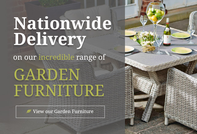 Nationwide delivery on a whole range of garden furniture
